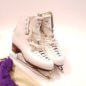 Risport Super Diamond Ice Skates 250 C 40.5 White Womens 8.5