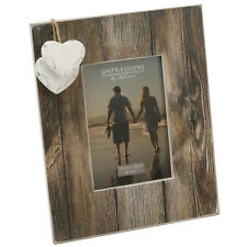 """WOOD PHOTO PICTURE FRAME 4"""" X 6"""" GIFT STAND HOME MODERN HEARTS PRESENT NEW DECOR"""