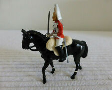 "BRITAINS 1984 original 3.4"" metal figurine model SOLDIER LIFEGUARD HORSE figure"
