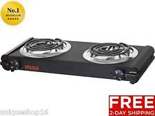 PORTABLE ELECTRIC DOUBLE BURNER HOT PLATE HEATING COOKING STOVE DORM CAMPING RV