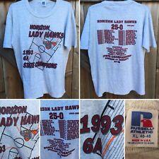 Vintage Horizon Lady Hawks 1993 6A State Champions T-Shirt 90s Basketball Xl Usa