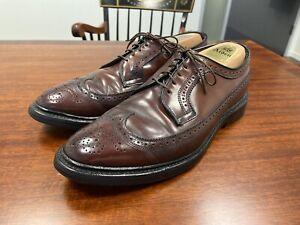 Allen Edmonds MacNeil shell cordovan wingtip oxford dress shoes Size 8D