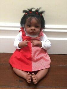 Jasmine Goes to Grandma's NEW Master Doll Artist Waltraud Hanl African-American