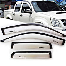 4 DOOR FOR ISUZU DMAX D-MAX 07-11 WHITE WIND SHIELD AIR GUARD RAIN VISOR WEATHER