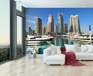VLIES FOTOTAPETE Dubai Skyline Tapete XXL Vliestapete