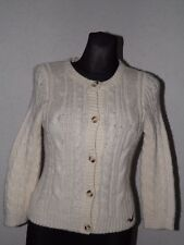 Hollister california womens wool blend long sleeve ivory cardigan size M