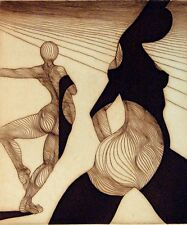 """Guillaume Azoulay """"Silhouettes"""" SIGNED ORIGINAL INTAGLIO Etching SUBMIT OFFER!"""
