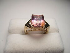 Estate 10kt. Gold Ametrine Rectangular Cut Ring - appx 4.5 carats. - pretty