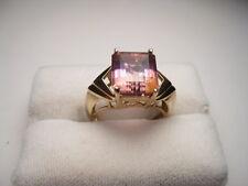 Estate 10kt. Gold Ametrine Rectangular Cut Ring - appx 4.5 carats. - pretty