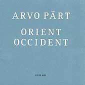 ARVO PART - Orient Occident, Helena Olsson