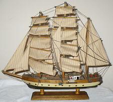 """VINTAGE WOOD MODEL SHIP BOAT """" GORCH FOCK """"  ASSEMBLED"""