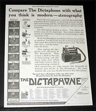 1917 OLD MAGAZINE PRINT AD, DICTATE TO A DICTAPHONE, NOT TO A STENOGRAPHER!