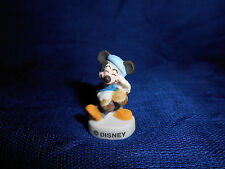 MICKEY MOUSE BONGO DRUMS Figure FRENCH Porcelain Feves DISNEY JAZZ BAND MUSICIAN