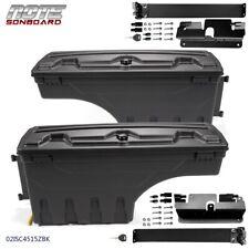 Rh&Lh Truck Bed Storage Box Toolbox Rear for 07-2018 Chevy Silverado Gmc Sierra
