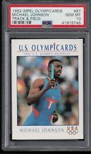 PSA 10 MICHAEL JOHNSON 1992 IMPEL OLYMPICARDS Olympic Hopefuls #87 GEM MINT RARE