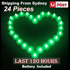 ❤️ 24x LED Candle Tea Light 120hours Colourful Flameless Battery Operated Lights
