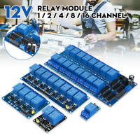 12V 1-2-4-8-16 Channel Relay Module Optocoupler