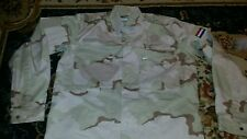 Vintage 90s Camo Military Jacket Shirt Desert Sand Camouflage Small Italy