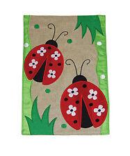 New listing New Toland - Daisy Ladies Burlap - Colorful Spring Ladybug Garden Flag