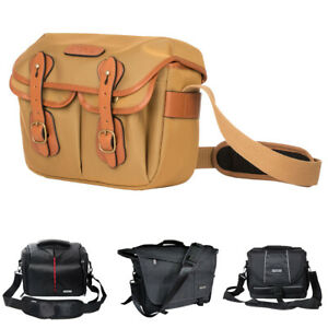 Unisex DSLR Camera Bag Canvas Nylon Shoulder Sling Messenger SLR For Nikon Canon
