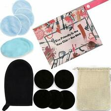 Makeup Remover Wipes a Glove n Laundry Bag and a Travel Carry Bag - Blue n Black