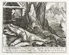 CHARLES VAN BOECKEL - Meinrad von Einsiedeln - Kupferstich um 1600