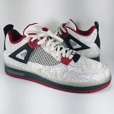 sports shoes 0e7c9 1fd53 Nike Air Jordan Retro AJF 4 Premier Laser White Varsity Red 384393-101 Size  14