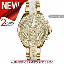 Michael Kors Wren White Zebra Diamond Gold Crystal Pave Dial Ladies Watch MK6157