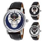Lucien Piccard Santorini Dual Time Silver Mens Watch 40043 - Choose color