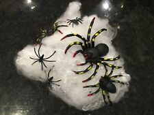 Halloween Spooky Scary Party Decoration Stretchable Spider Web Ghost Spiderman