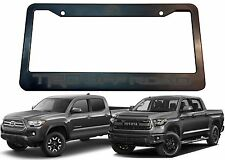 TRD OFF ROAD License Plate Frame w/ Magnetic Grey Vinyl Lettering New Free Ship