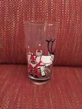 """Vintage Georges Briard Santa & reindeer 5.5"""" Drinking Glass"""