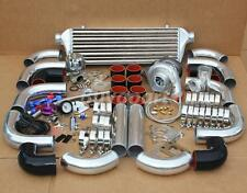 T3/T4 T04E Universal Turbo Charger Kit+ WASTEGATE + INTERCOOLER+ PIPING Polished