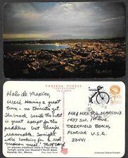 1976 Mexico Postcard - Mazatlan - Twilight over North Beach