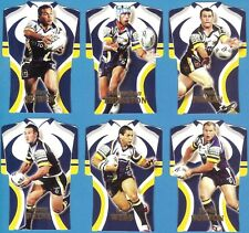 2006 Select NRL Invincible - Jersey Die-Cut Cards - North Qld Team Set of 6 Card