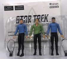 Art Asylum STAR TREK Original Series Action Figure Set Wave One Kirk Spock McCoy