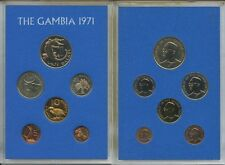 GN651 - Gambia Kursmünzensatz 1971 PROOF PP KMS KM#PS3 Coin Mint Set BOX