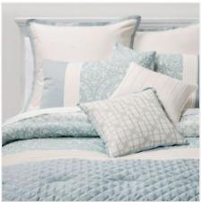 8 piece Queen Comforter Set Teal White Sunham Home Fashions Brighton