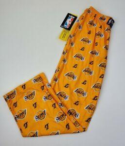 Lakers NBA Sleepwear Pajama Pants Big Kids Size Large Yellow Purple White