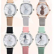 Women Casual Dress Watch Stainless Steel Faux Leather Ladies Quartz Waistwatch