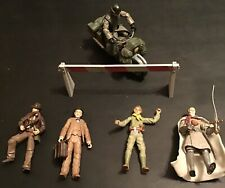 Indiana Jones Last Crusade Lot Of 5 Action Figures And Motorcycle Hasbro 2008