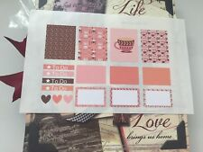 Scrapbooking Embellishment Erin Condren Planner Stickers Coffee Time Design