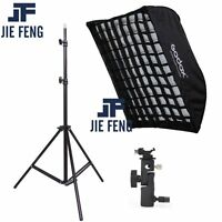 Godox 60x90cm  honeycomb Grid Umbrella Softbox hot shoe bracket  Light Stand kit