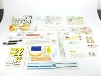 Vintage AMT Revell 1/24 1/25 Scale Model Kit Decal Sheet Lot