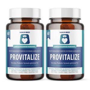 2 Bottle Pack Provitalize Probiotic Weight Management Pills ORIGINAL 2 Month