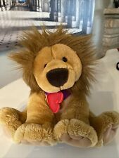 Hallmark Inc Stuffed Lion animal with Crown and Heart Necklace