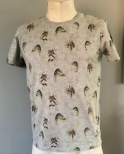 Ted Baker Grey Parrot Design T Shirt Size 3 Pit To Pit 19 Inches