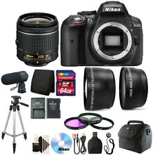 Nikon D5300 24.2MP DSLR Camera with Microphone + Deluxe Accessory Bundle