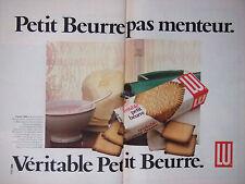 PUBLICITÉ 1979 PETIT BEURRE PAS MENTEUR VÉRITABLE PETIT BEURRE - ADVERTISING