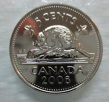 2006P CANADA 5 CENTS PROOF-LIKE NICKEL COIN